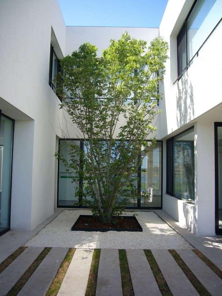 patio pequeño diseño estilo zen