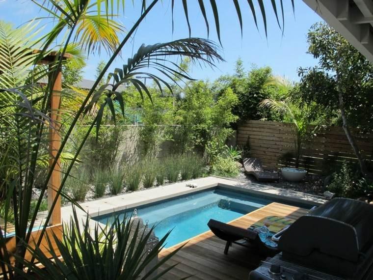 Espacio para jardines peque os 75 dise os impresionantes for Diseno de patios con piscina
