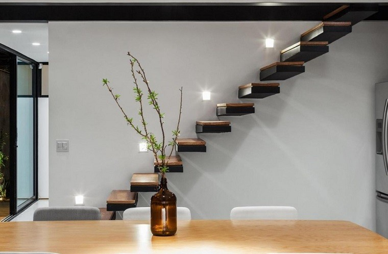 Decorar escaleras con estilo 50 ideas - Iluminacion escaleras interiores ...