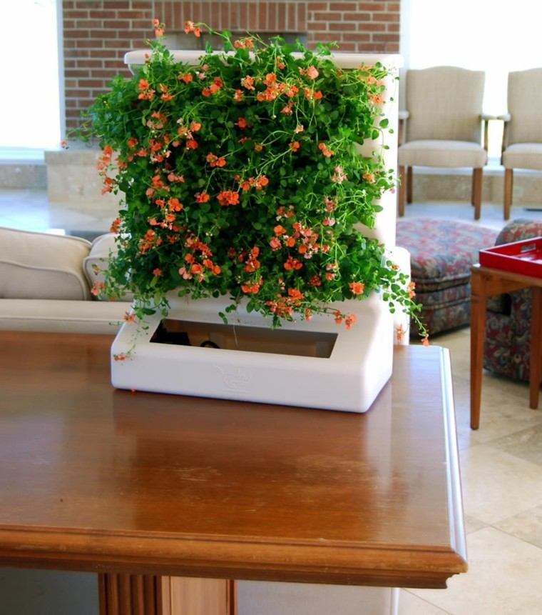 pequeño diy jardin mesa salon