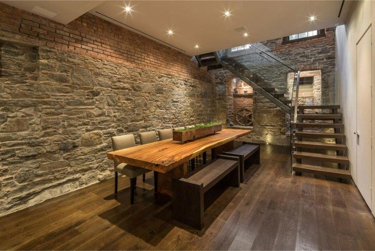 50 Bold And Inventive Dining Rooms With Brick Walls: Pared Diseño Y Texturas, 50 Ideas Para Ser Diferentes