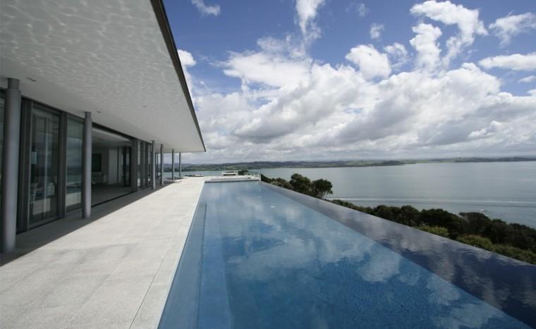 pool design border modern clouds
