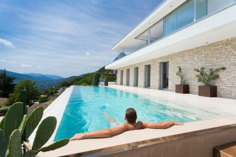 swimming pool design cactus man relax