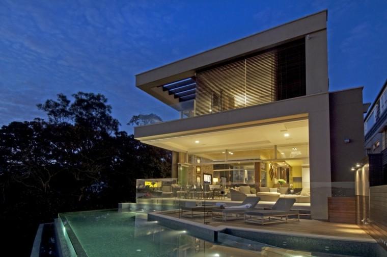 pool design house night lights