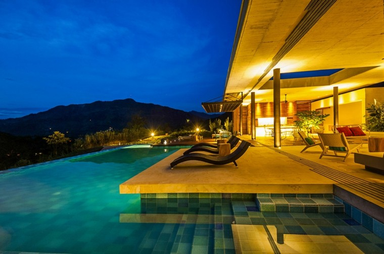 pool design colombia house lights