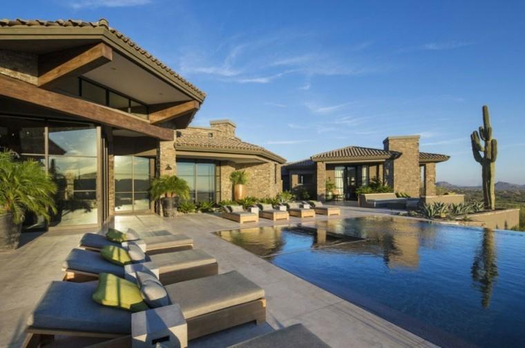 pool design desert house throw pillows