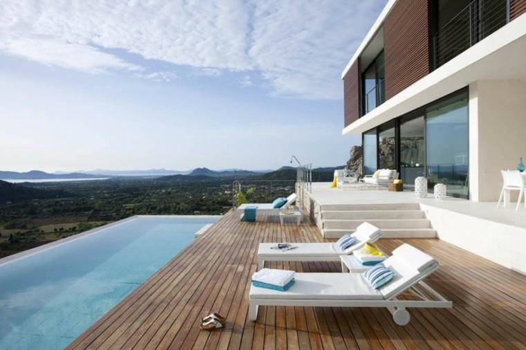 pool design mountains sky patio