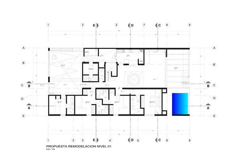 plano numero uno color azul
