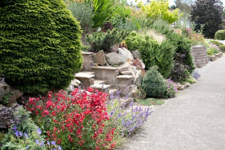 plants design red gardens flowers