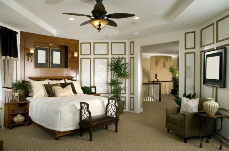 plantas paredes madera blanca marron dormitorio estilo clasico ideas