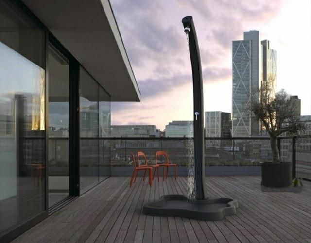 plato ducha moderno terraza jardin