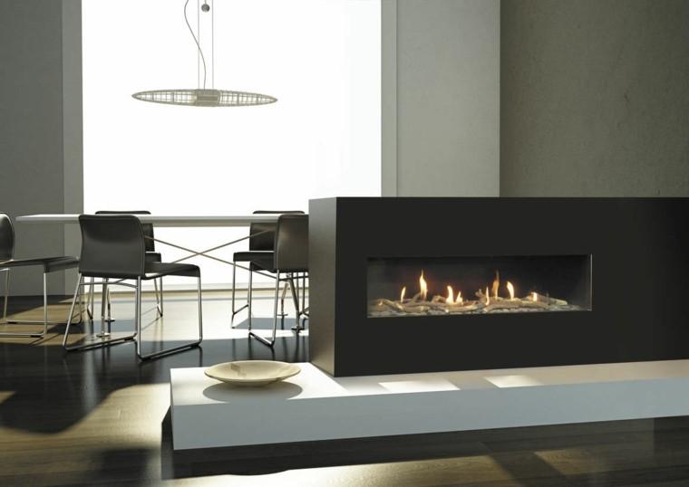 plato fuego lampara sillas espacios