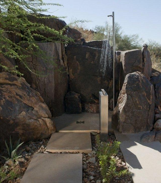 platos de ducha de obra rocas grandes