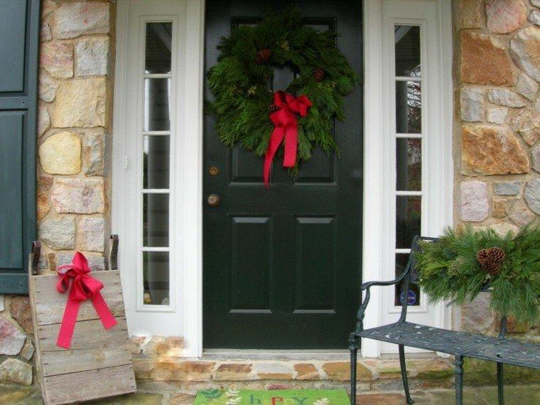 puertas decoracion conos lazo rocas