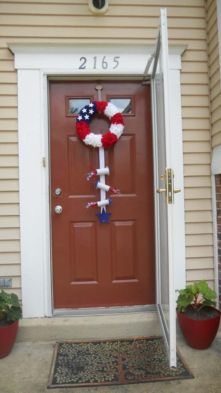 puertas decoracion patriotica colores madera