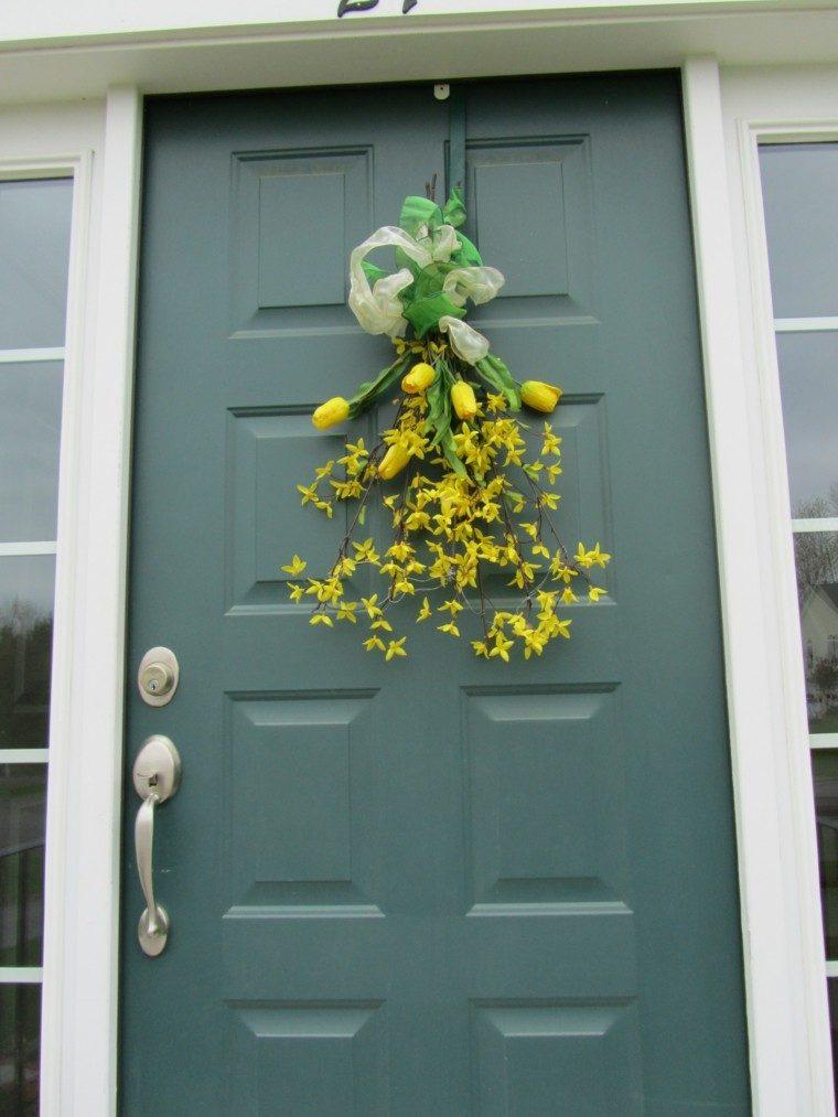 puertas decoracion plantas amarillo gris