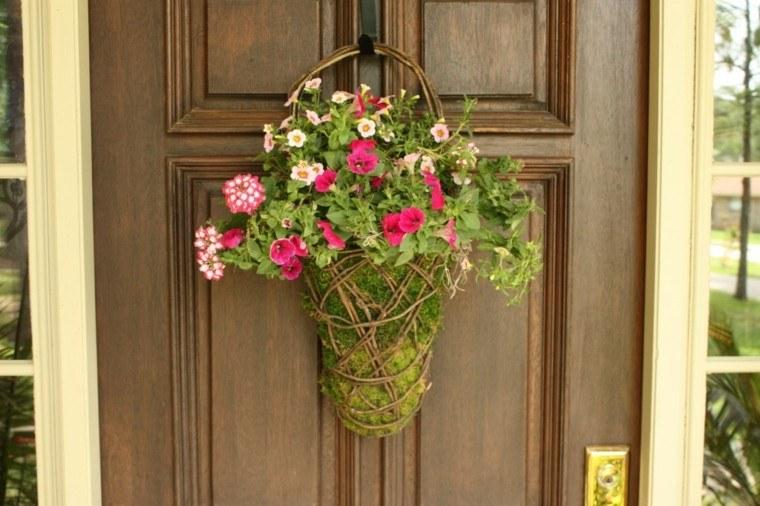 puertas decoracion primavera estilo cesto
