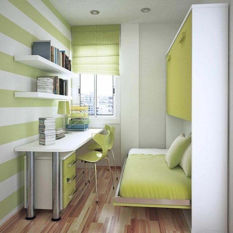 rayas verde combinado mesa blanco