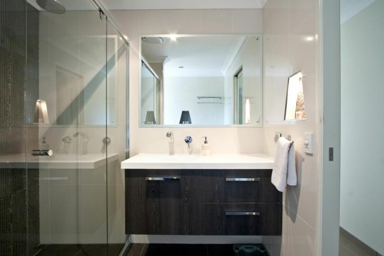reformas de baños cristal mueble espejo