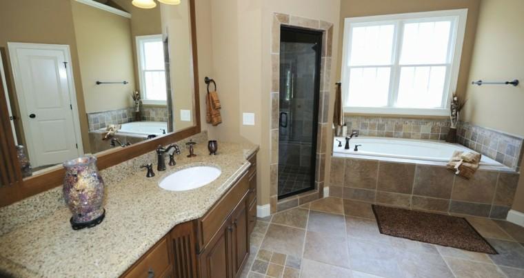 reformas de baños jarron espejo vidrio