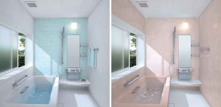 revestimiento baños modernos tonos claros