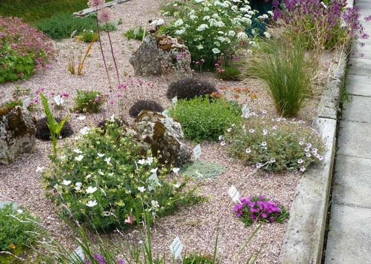 roca jardines bordillo rosado tamaño