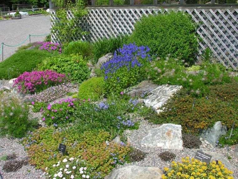 roca jardines carteles cuerdas cercado