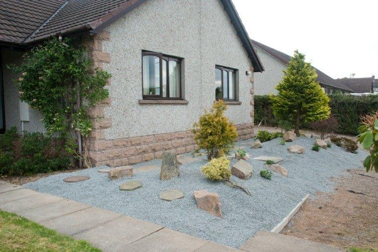 roca jardines casa sendero patio