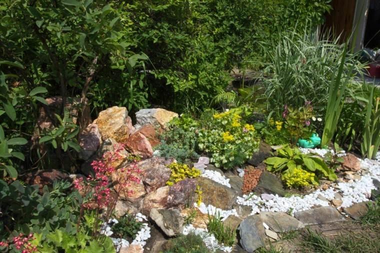 roca jardines monticulo arbustos naranja
