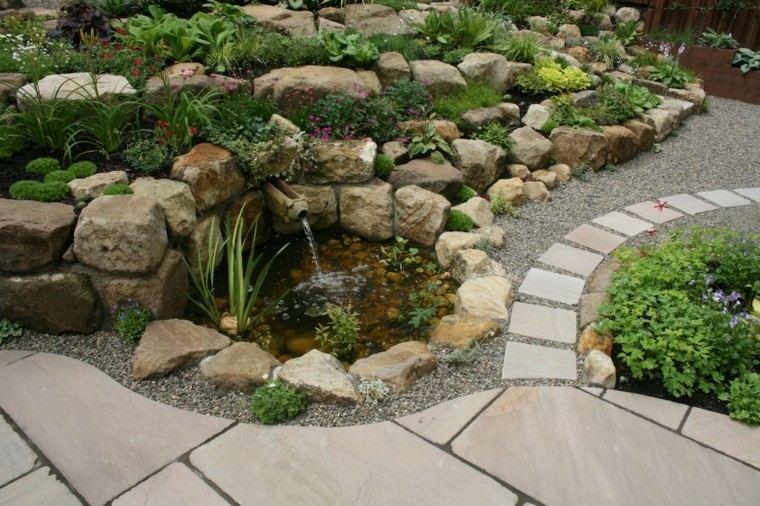 roca jardines senderos bajo diseño