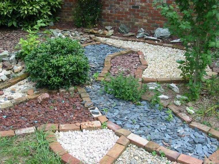 roca jardines senderos estrellas grava
