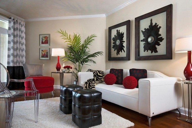 rojo sillas cortinas alfombra acrilico