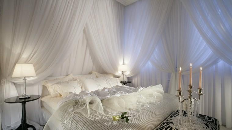 romantica velas casa dormitorio cortinas