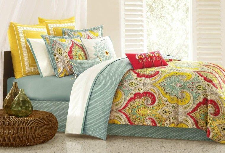 decoracion dormitorio vintage ropa cama estilo retro vintage