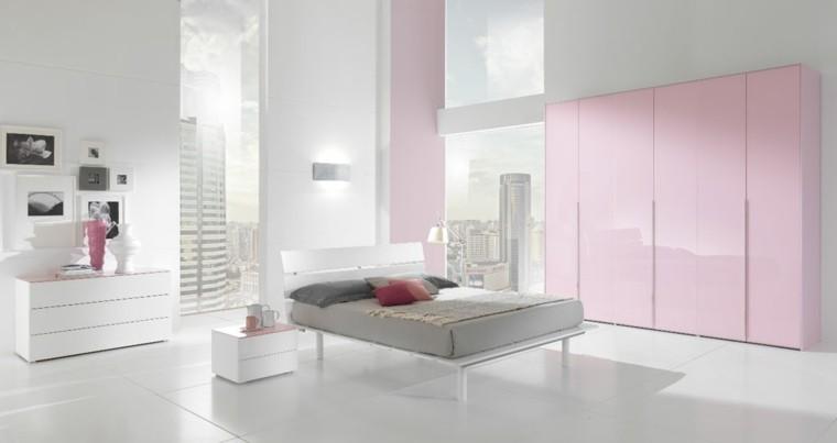 rosa mobiliario gavetero camas cojines