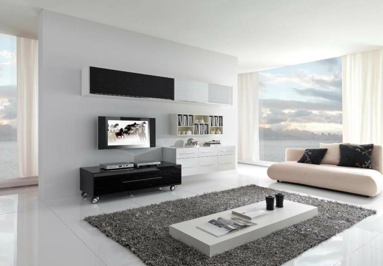 sala de estar alfombra gris