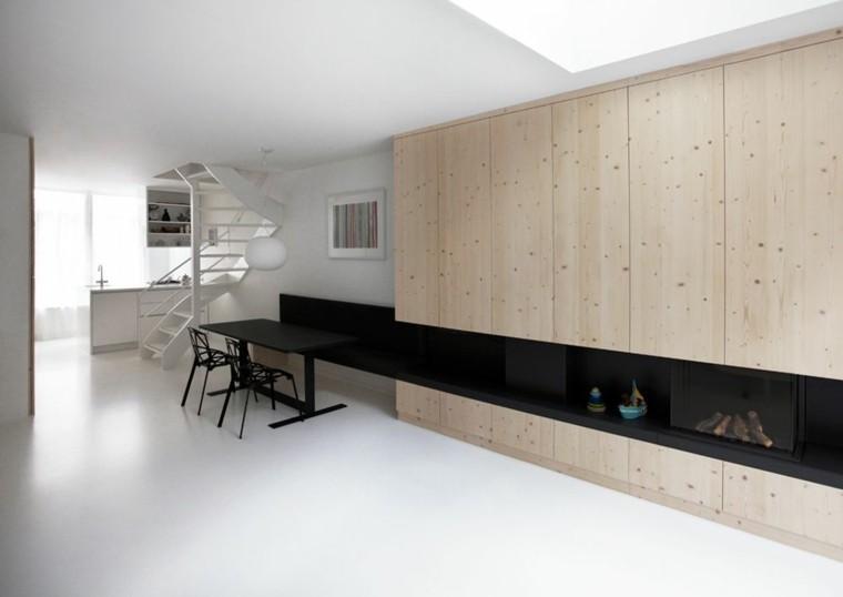sala estar armario madera natural