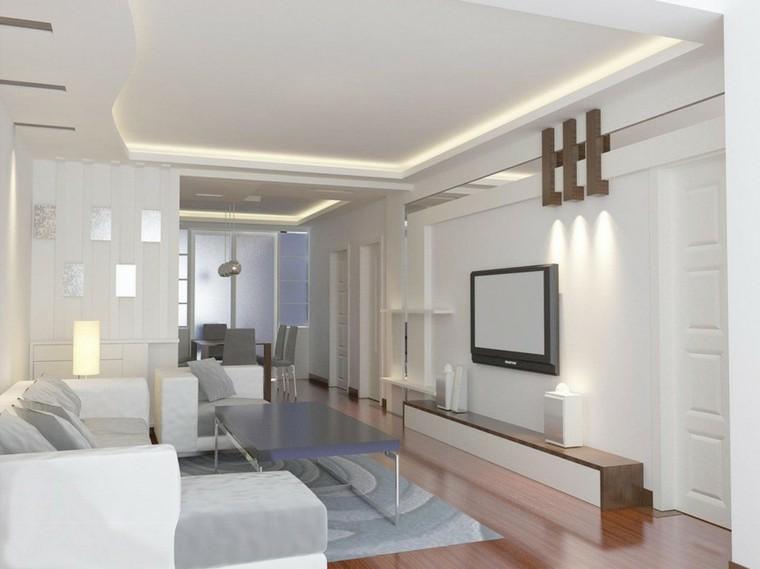 sala estar diseño color blanco