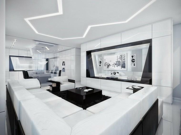 sala de estar estilo futurista