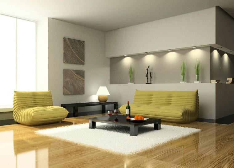 salas de estar minimalistas sollones
