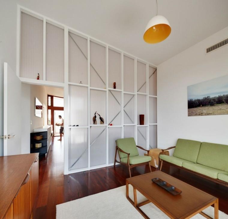 salas de estar sofa color verde