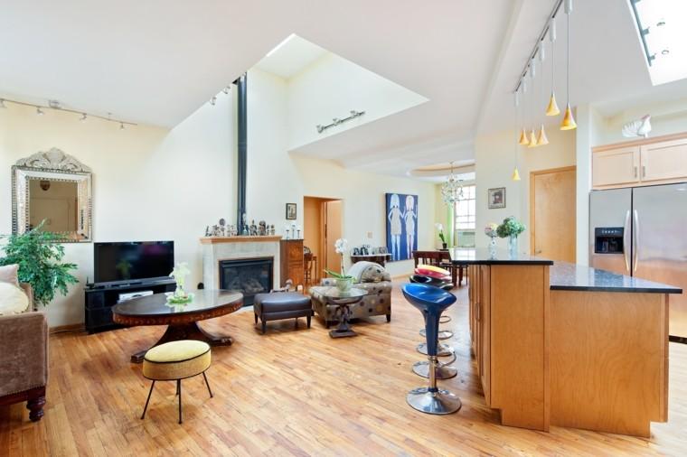 diseño salon moderno estilo nórdico