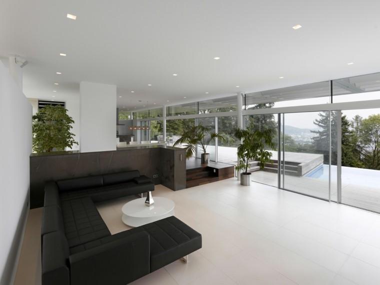 salon amplio estilo minimalsita sofa