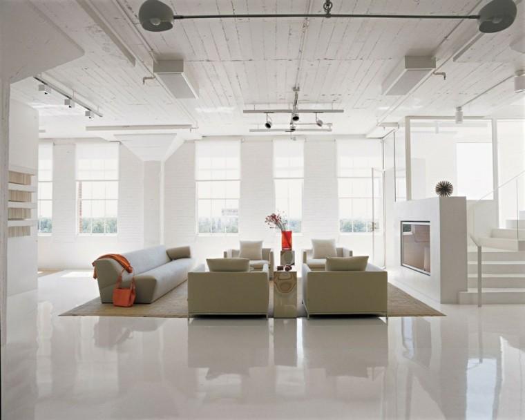 salon amplio suelo paredes blancas sofa beige claro ideas