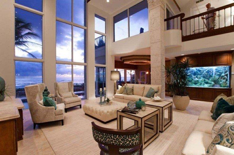 salon amplio ventanas grande otomana ideas