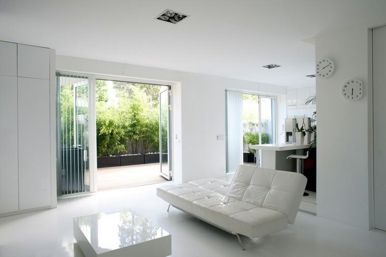salon blanco cocina sofa pequena ventana ideas