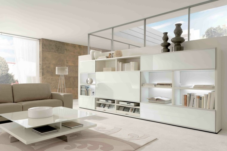 salon blanco elementos color beige