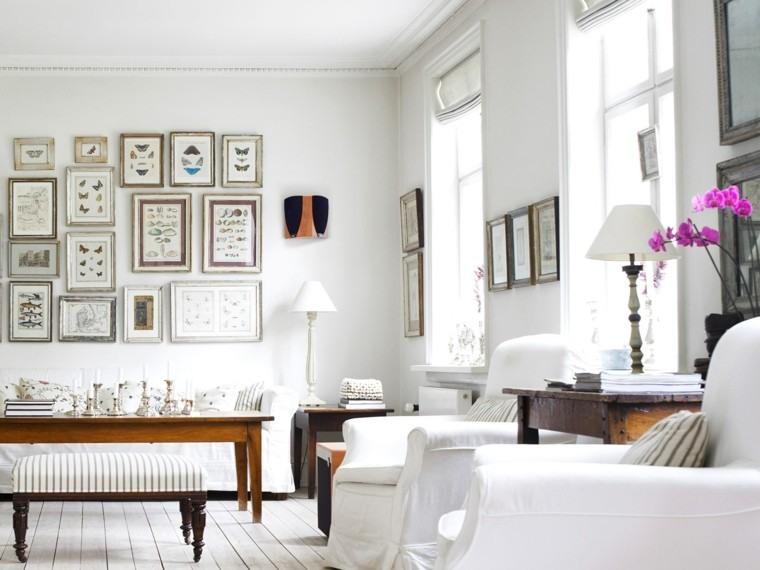 salon blanco decoración estilo nordico