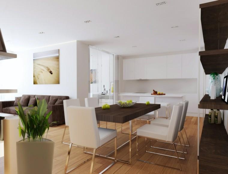 Salon comedor y espacios abiertos decorando con estilo for Plantas salon decoracion