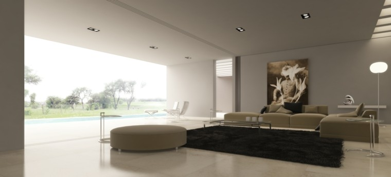 salon cubierto moderno color beige